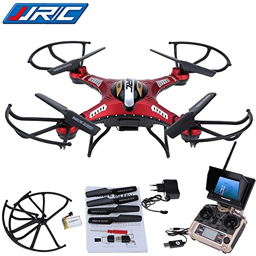 WayIn JJRC H8D RC Quadcopter Drone Helicopter with FPV Transmitter Real-time Monitor Transport Video Mode without head, 5,8 g of 2MP HD camera