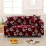 Sofa-Überzug aus Stretch-Stoff, Blumenmuster, elastisch, weich, für Sofa und Couch geeignet, 1 Stück 190-230cm 2