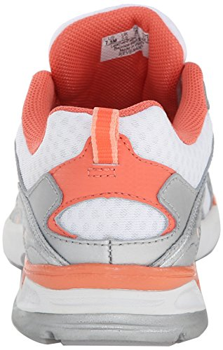 Ryka Revenant Synthétique Chaussure de Marche White-Peach Nectar-Coral Reef-Chrome Silver