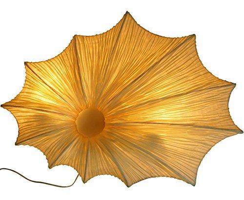 bambus-discount.com Wandleuchte Bali mit Creme Farbiger Seidenhülle, Höhe 45cm - Thai Deko Lampe - Asiatische Lampen Stehlampe, Stehleuchte, Tischlampe, Wandleuchte, Deckenlampe, Lampenschirm