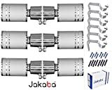 JAKABA Premium Quality Silver Finish Stainless Steel and Alloy Curtain Finials with Heavy Supports - PACK of 12 Pcs. (Finials : 6 Pcs + Supports : 6 Pcs) : Curtain Brackets Set / Holders for Window / Door - JKB1083SL