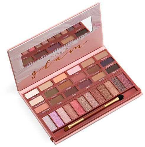 youstar ROSE GLAM Eyeshadow Palette, 18 matte Eyeshadows & 12 shimmer Eyeshadows