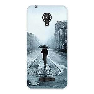 Beautiful Walking Rain Multicolor Back Case Cover for Micromax Canvas Spark Q380