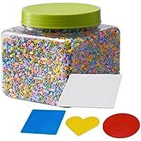 Ikea pyssla cuentas 0,7 kg Juego con 4 diferentes steckplatten