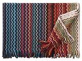 Eagle Products Firenze Wohndecke l Größe 130x190 cm l Farbe 24 Bunt l Reine Schurwolle