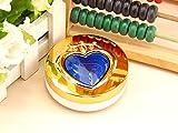 CHENFUI Student cuore modello lenti a contatto scatola lenti a contatto caso di viaggi all' aperto, plastica, Blue, 7.6x3cm
