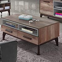 Maison Concept Morgan Coffee Table Cabinet, Brown - H460 x W600 x D1000 mm
