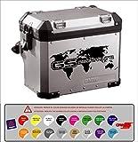 Aufkleber Aufkleber Koffer BMW R 1200 1150 1100 800 GS Abenteuer -Weltkarte hochwertig 16 Farben verfügbar Kit 2 Einheiten