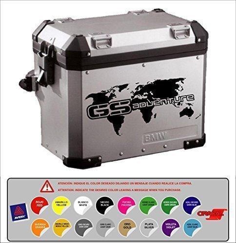 STICKER ADESIVO PORTA BMW R 1200 1150 1100 800 GS ADVENTURE -Mappa del mondo ALTA Qualità 16 colori disponibili KIT 2 Unità
