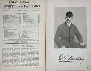 Antique Portrait 1898 Mr Edward Exton Barclay Sportsman