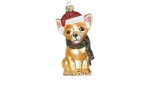 Amazon De Gartenschatze Christbaumschmuck Weihnachtskugel Hund