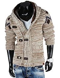 Tazzio Pull à capuche en tricot à grosses mailles pour homme