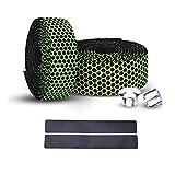 PLATT Fahrrad Lenkerbänder überlegene atmungsaktive Hexagon rutschfest Hoherwertig Lenkerband mit Endkappen für Rennrad Mountainbike Citybike (2 STüCKE Pro Satz)