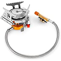 outlife Camping Gas Stove,Split Type Stove Head Windproof Portable Foldable Split Furnace Outdoor Camping Cooking Stove Butane Burner