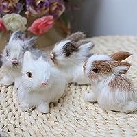 MAJGLGE Lovely Simulation Animal Doll Rabbit Plush Sleeping Stuffed Toy Kids Gift Decor - Random Color