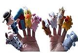 Liroyal 10 Pcs Animals Finger Puppets Story Telling Nursery Fairy Tale Perfect Kids Gift