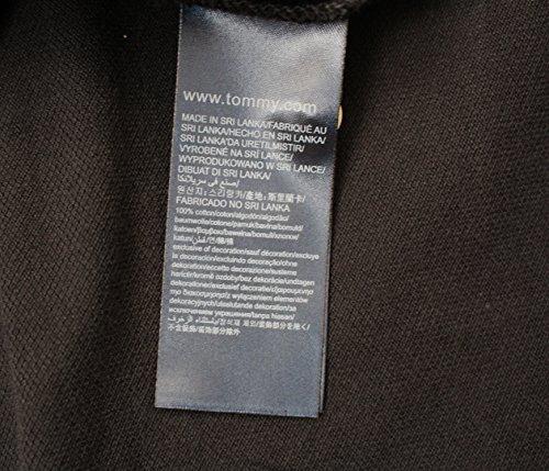 TOMMY HILFIGER HERREN 40er Zwei Schicht Baumwolle LANGÄRMELIGES POLOHEMD T-SHIRT SCHWARZ, GRAU, MARINEBLAU Größe s, M, L, XL, XXL ENGE PASSFORM Neu Schwarz