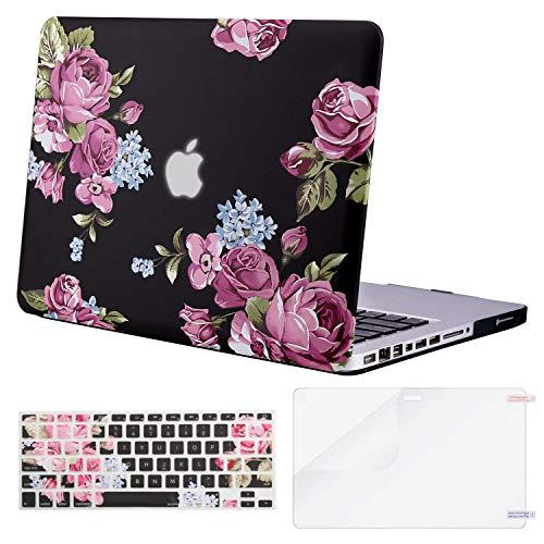 ui mit Kunststoffmuster, Tastaturabdeckung und nur Displayschutzfolie Kompatibel Altes MacBook Pro 13 Zoll (A1278 CD-ROM) Veröffentlichung Anfang 2012/2011/2010/2009/2008, Peony ()
