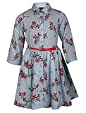 Chicabelle Girls' Dress (CH-42_Blue With...