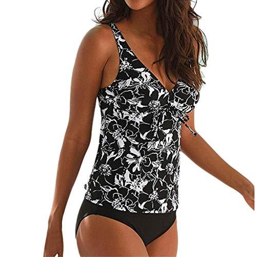 267c97745c8c Mymyguoe Mujeres Tankini Traje de baño de Gran tamaño Verano Conjunto de  Bikini Playa Bañador Ropa de baño Bikini Push Up Swimwear Beachwear Swimsuit