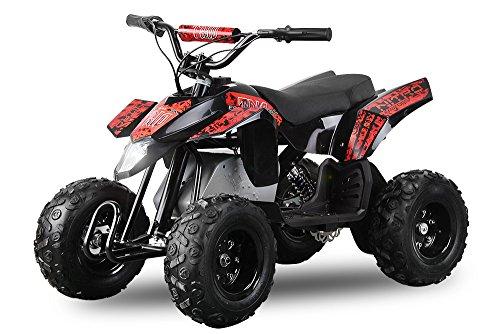 "Eco Trio 6"" 350W Elektroquad Kinderquad MiniQuad Quad Bike ATV 6 Zoll (Rot)"