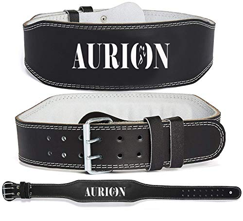Aurion Super-Belt-Small(Black) Leather Weight Lifting Back Support Belt, Small (Black)
