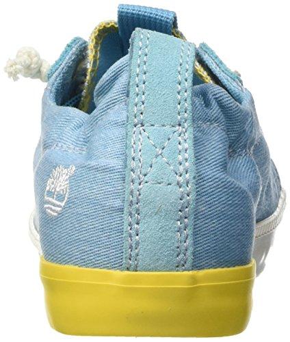 Timberland Newport Bay_newport Bay Canvas Plain, Baskets Basses femme Bleu - Blau (Maui Blue)