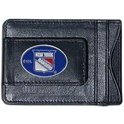 NHL New York Rangers Genuine Leather Cash and Cardholder