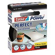 tesa extra Power® Spar-Set: 2x 56341-27-03 Perfect Gewebeband schwarz 2,75m:19mm