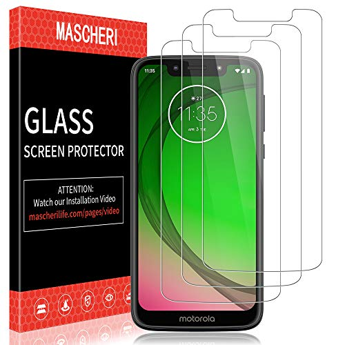 MASCHERI Schutzfolie für Motorola Moto G7 Play Panzerglas, [3 Stück] Screen Protector Glas Panzerglasfolie Bildschirmschutzfolie Folie für Motorola G7 Play Moto G7 Play