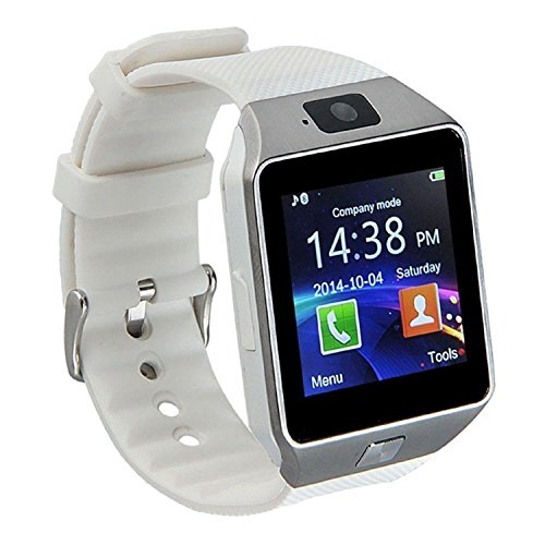 GZDL Bluetooth Smart Watch DZ09 Smartwatch Watch Phone Support SIM TF Card with Camera for Android IOS iPhone Samsung LG Phones White