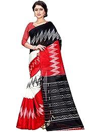 [Sponsored]Sugathari Sarees Women's Red And Black Mysore Bhagalpuri Art Silk Saree