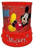empireposter Nachtlicht - Mickey Mouse - H 12 Ø 11 - Nachtlampe mit Projektion - Einschlafhilfe für Kinder