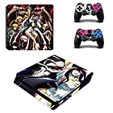 Skin Sticker - PS4 Play Station 4 Slim Sticker Skin Overlord Pegatinas Vinilo PS 4 Decal pour Sonly Playstation 4 Slim Console et Manette pour PS4 Slim Skin, PS4 Pro Skin, Ps4 Skin Sticker A325
