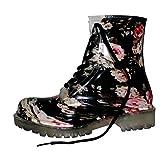 EROGANCE Damen Gummistiefel Regen Stiefel Stiefeletten Boots G01 / EU 36