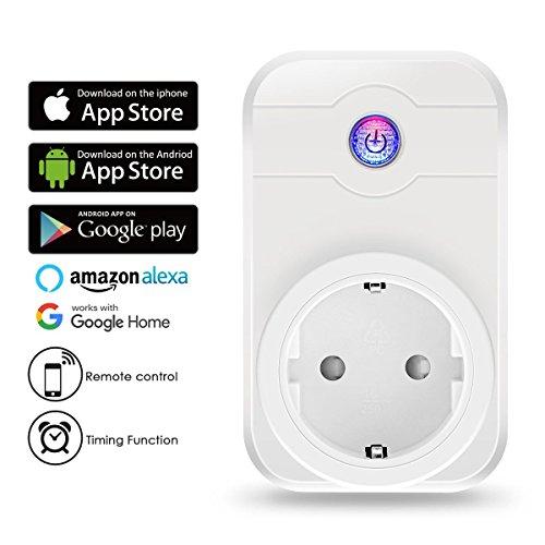ELEGIANT Enchufe Inteligente Wifi Inalámbrico Toma Funciona con Amazon...