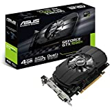 Asus NVIDIA GeForce GTX 1050 PH-GTX1050TI-4G 4 GB GDDR5 128 Bit Memory HDMI/DP/DVI PCI Express 3 Graphics Card - Black