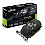 Asus PH-GTX1050TI-4G Nvidia GeForce Grafikkarte (PCIe 3.0, 4GB DDR5 Speicher, HDMI, DVI, DisplayPort)