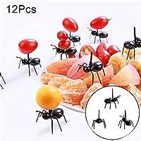 Crewell Halloween animal hormiga de granja tenedor de fruta mini dibujos animados niños alimentos frutas pick para decoración de fiesta bar