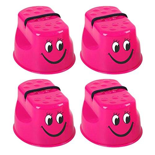 Gazechimp Lächelndes Gesicht Topfstelzen Stelzen Spielzeug Gleichgewicht Spiel für Garten, Spielplatz, Outdoor, Balance Training - Rose