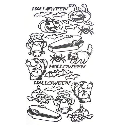 zqyjhkou Halloween Kreaturen Peel Off Wandaufkleber Kürbis Monster Schwarze Katze Fledermäuse Schädel Lustiges Wandbild Dekor Allerheiligen Fenster Ea796 42x95cm (Australien Halloween-kürbisse In)