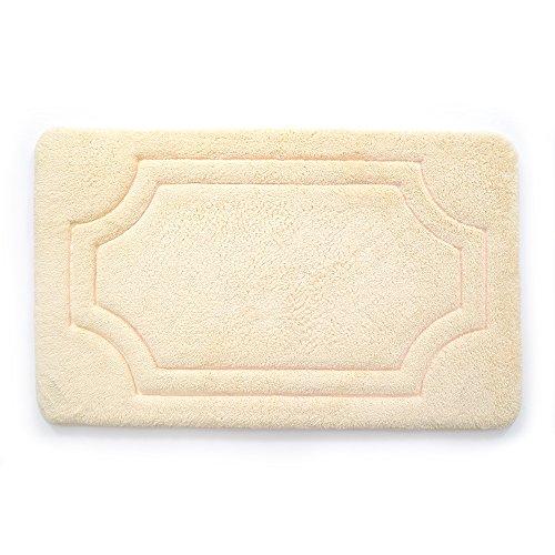 Stephan Roberts Luxuriöse Memory Foam Badvorleger mit Wasser Shield Technology, 53,3x 86,4cm Antik Weiß