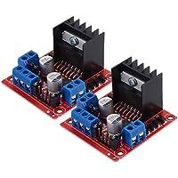 PChero 2Packs L298N - Módulo controlador de unidad de motor, doble puente H DC Stepper para Arduino Smart Car Robot