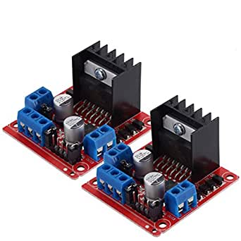 Pchero 2confezioni controller Module, motore L298N Dual H Bridge DC stepper per Arduino Smart Car robot