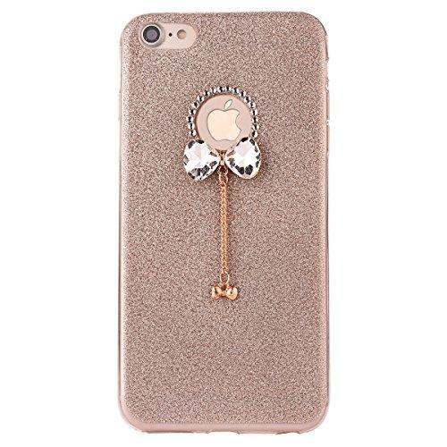 "iPhone 7 Hülle, iPhone 7 Handytasche, CLTPY Ultradünn Weich TPU Schutzfall Shinning Glitzer Kristall Schale Etui für 4.7"" Apple iPhone 7 + 1 x Stift - Rosa Gold 1"