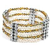 Schmuck-Art Damen-Armband Risti crystal jonquil topaz AB 34737