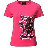 FASHION REVIEW Damen T-Shirt Rosa Fuchsia