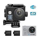 WiMiUS 4K Action Kamera Wifi Action Cam HD Actioncam 1080P 16MP Sport Kamera 40M...