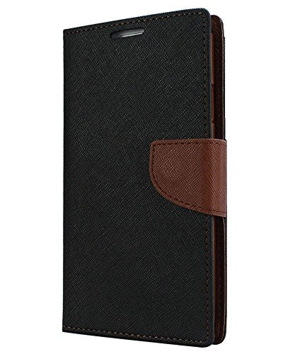 Johra Mercury Diary Wallet Flip Cover Case for Samsung Galaxy On7 Pro Flip Cover - Brown
