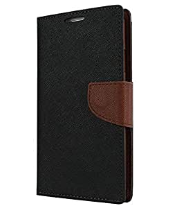 Samsung Galaxy Grand Z I9082Z Flip Cover (Black & Brown)